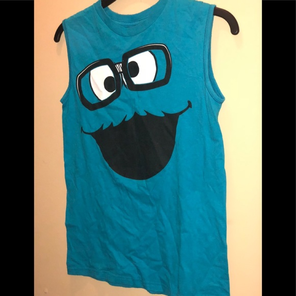 358429f8 Sesame Street Shirts & Tops | Cookie Monster Muscle Tee | Poshmark